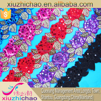 T0270-4b(2.4)new design african mesh sequin embroidery fabric lace