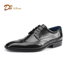 Italian Custom Tyler Wingtip brogue oxford genuine leather shoes men