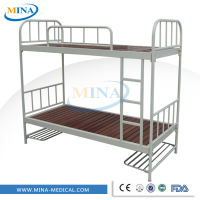 MINA-MB1004 hospital wooden base steel double decker bed