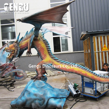 2018 Most Popular High Simulation Fiberglass Dragon Statue