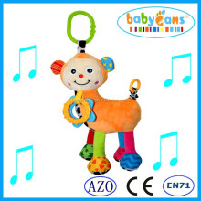 newest promotion gift plush toy baby mobiles toy music soft monkey toys