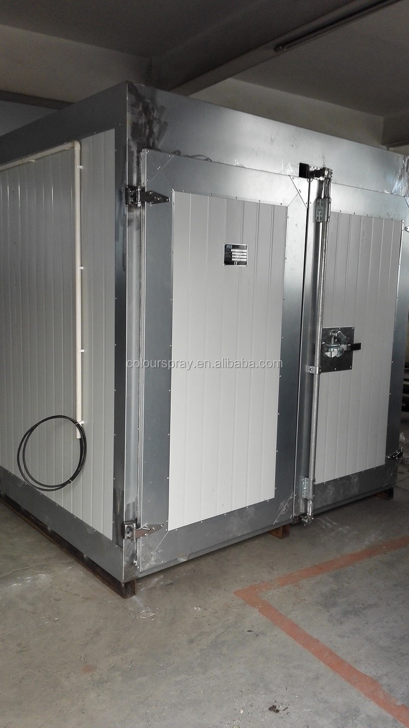 Gas powered furnace powder paint curing oven