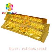 Golden Royal Honey / Jelly / Bee Pollen Packaging Sachets / Foil Male Sex Enhancement Powder Bags