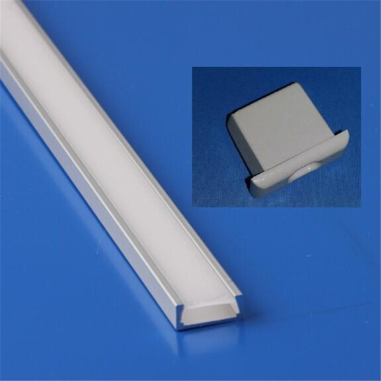 super slim 11 mm recessed aluminum Led strip Light Shell/fitting/profile with plastic end caps L027