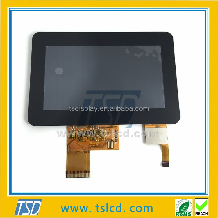 TFT 5'' 800 * 480 dot matrix,5 inch TFT LCD full color screen