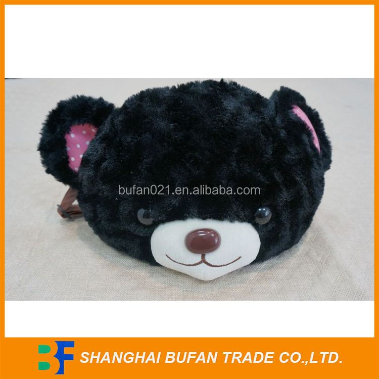 Factory in shanghai china hot sale love bear plush handbag