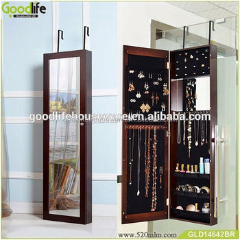 Over the door bathroom furniture cosmetic mirror