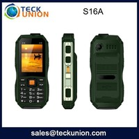 S16A 2.4 inch quad band three sim rugged cheap cell phone waterproof cellular