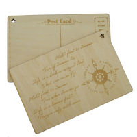 Antique laser printing postcard in Folk wood carving crafts PT005
