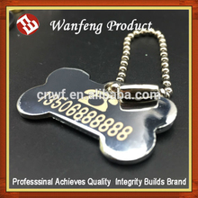 Promotion Custom metal dog or pet id tags wholesale name tag bone shaped dog tags