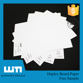 Custom printed duplex board paper with grey back for wholesales