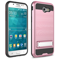 2017 New product brushed metal hard pc kickstand phone case for Samsung J327 2017