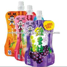 Chooseable Fruit juice Special good looking spout design Laminated material Doypack spout packaging pouch