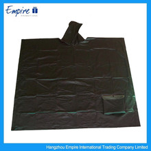 Waterproof durable rain poncho disposable black