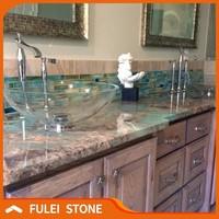 Natural green amazonite turquoise granite quartzite kitchen countertop