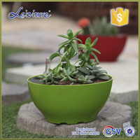 Glazed Finishing and ABS Plastic Type self watering air plastic flower pot for plants