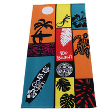 China beach towel manufacturer custom sublimation printed microfiber beach towel