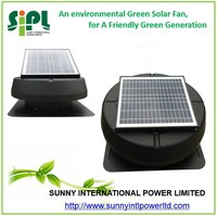 new year promotional factory direct sale price solar exhaust fan with round cover