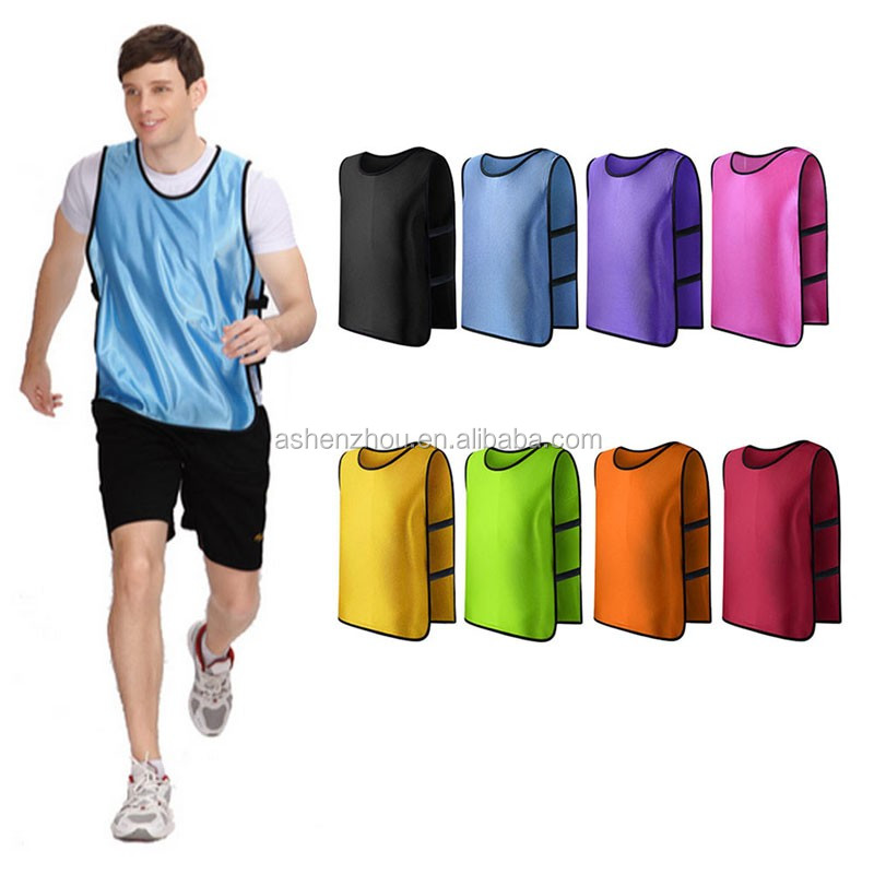 Direct factory price wholesale custom polyester sport soccer vest reversible bibs training running bib