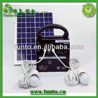 10W solar system for small house with 3A controller,2pcs LED lamp,mobile charger