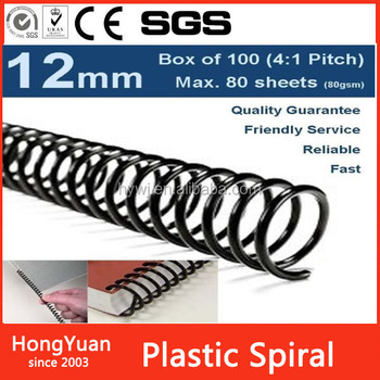 School supplies, notebooks, school stationary plastic spiral, plastic spiral coil for notebooks