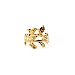 2015 18K Gold Leaf Ring Punk Hot Selling Charm Good Look