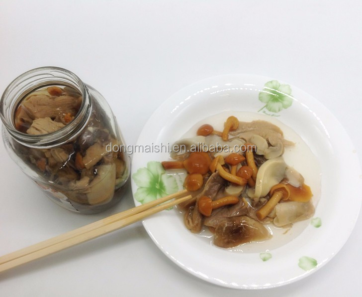 Brine Fungus health food canned mushroom sliced