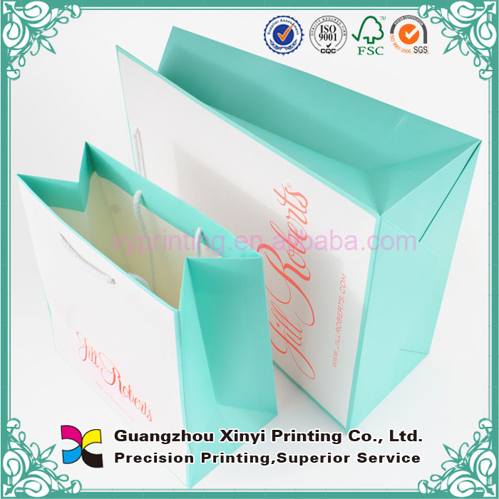Alibaba china supplier high quality gift thank you white paper shopping bag
