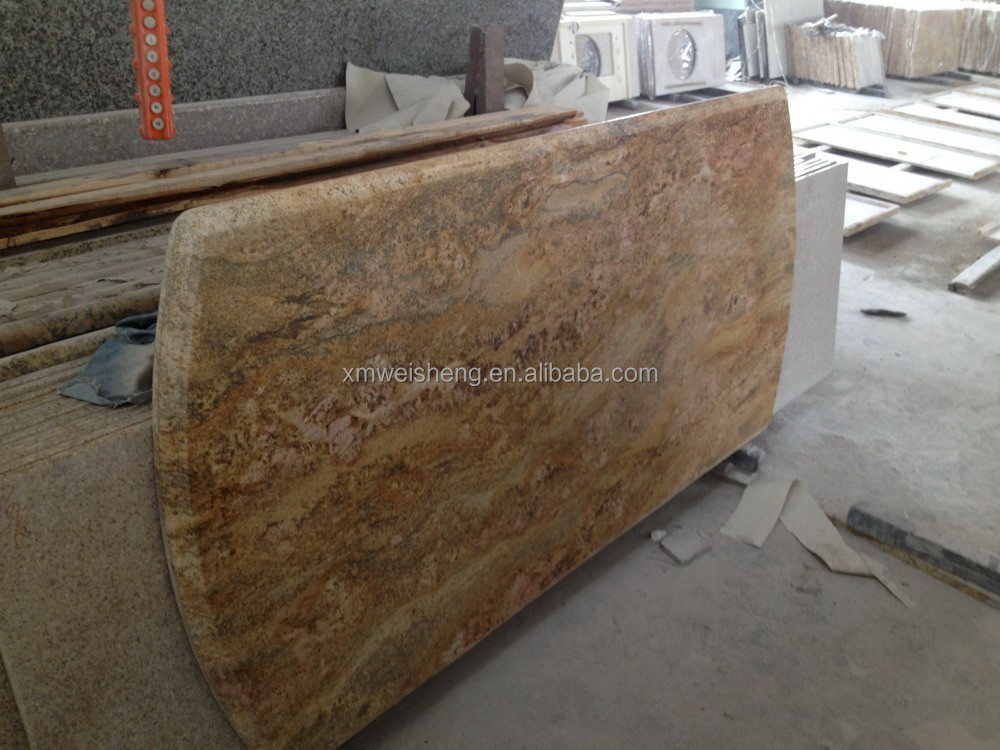 hot sale granite countertops price, Imperial Gold polished granite countertop