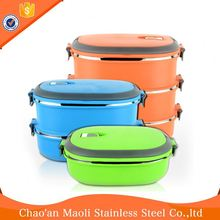 Good Quality Hot Sale Double Layer Bento Lunch Box In Wholesale Pp Material