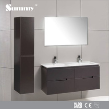 Modern solid wood bathroom cabinet sanitary ware with mirror