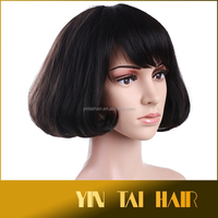 Black short fluffy hair wig New Fashion Womens Wigs Cosplay Party Full Hair Wig New 2015 wholesale