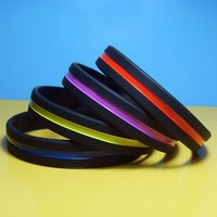Supply colorful silicone bracelet drive midge support the new LOGO customized silicone bracelets