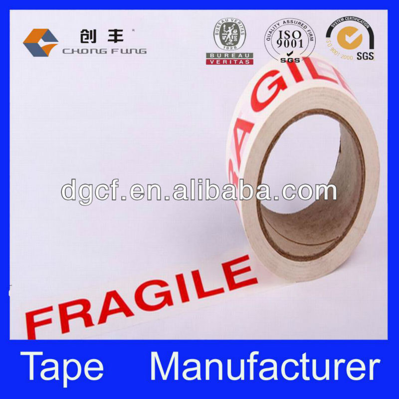 Self adhesive security factory sale bopp logo printed adhesive tape