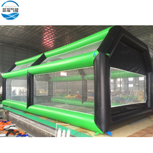 Factory inflatable baseball sport games giant inflatable batting cage field game for sale