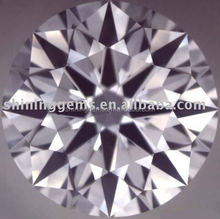 dazzling round shape hot selling white cubic zircon for jewelry