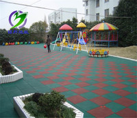 Competitive price badminton sports outdoor playground rubber tiles