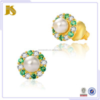 925 Sterling Silver Natura Fresh Water Pearl Earring