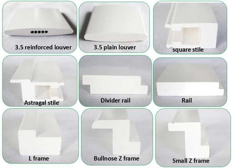 Australie standard bi-fold coulissante PVC fenêtre persiennes