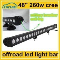 48 inch one row led light bar 260w cree anti-fog breather 4x4 barra luminosa led