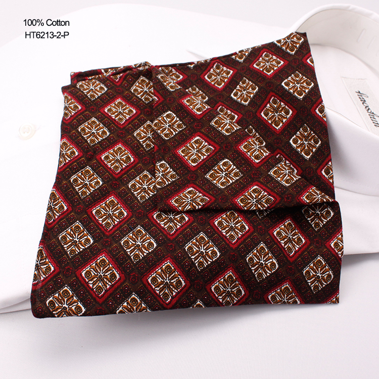 India Design Drawing Printed Mens Bussiness Cotton Handkerchief