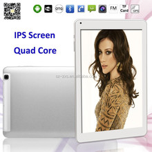 ZXS-101-3G 10.1 Inch Quad Core IPS 1280*800 Android Tablet 3G With Phone call Bluetooth1G 8G/16GB 2.0MP And 5.0MP Tablets PC
