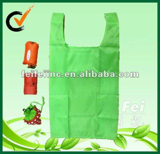 190T polyester foldable T-shirt shopping bag