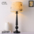 American style modern table lamps hotel electric metal made black vintage table lamp