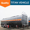 3 Axle Heated Asphalt Tanker Trailer for bitumen transportion