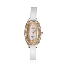 SJWHJD0003-3 SJ Newest Design Promotional Products White Leather Watch Strap Elegant Ladies Quartz Watch