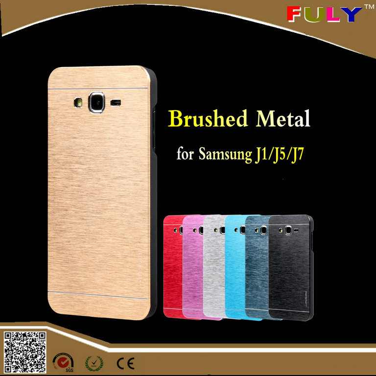 Luxury Brushed Metal Aluminum Cover Case for Samsung Galaxy J5