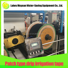 Economical durable efficient low water usage flat irrigation drip tape