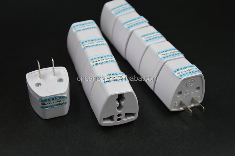 2017 New FCC CE ROHS Certification Universal Adapter Converter UK AU EU To US Adapter For American Canada Countries