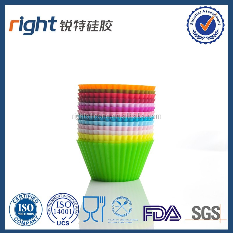 Silicone Muffin Cup Cake 14 kinds of different colors
